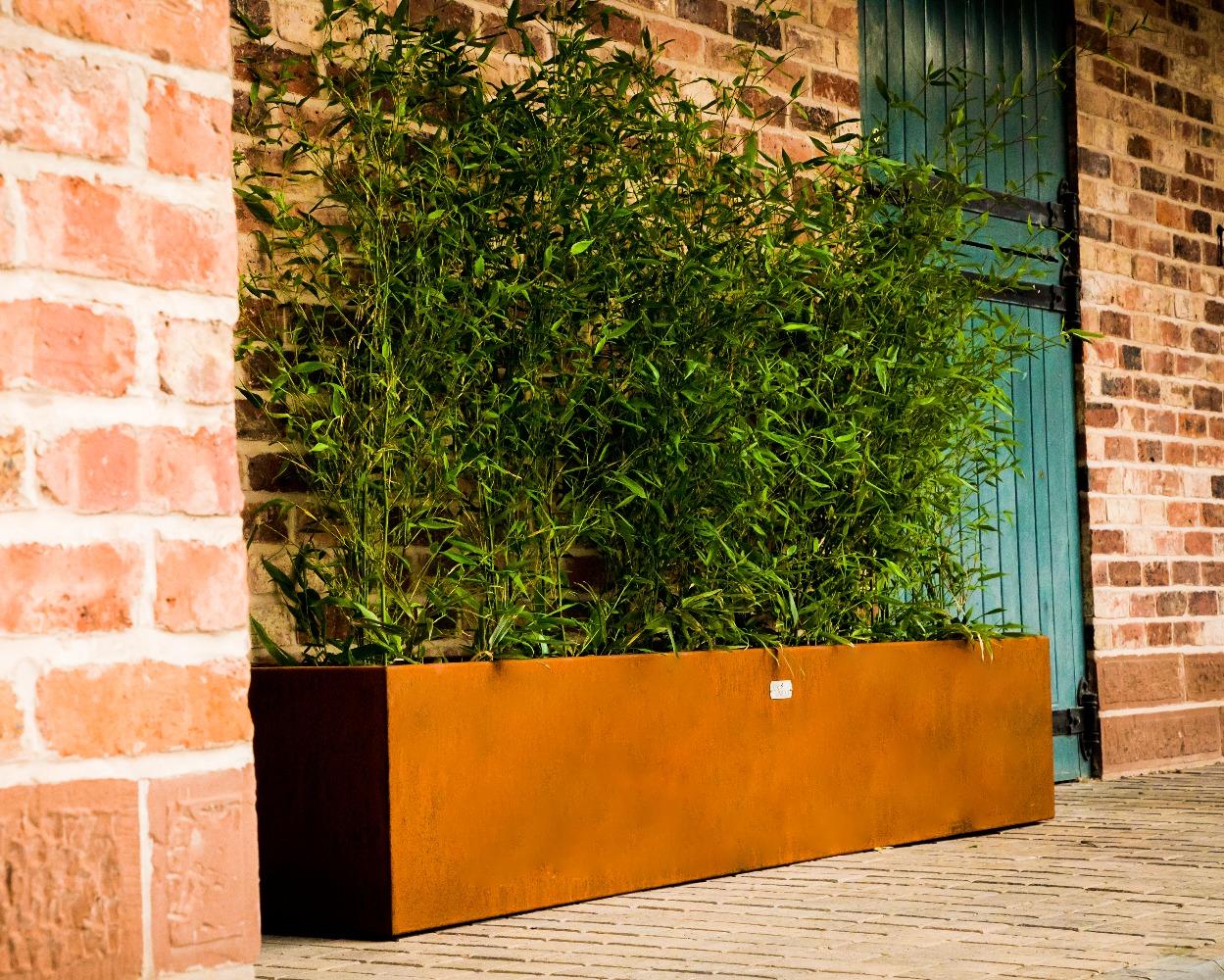 Rustic Corten Steel Extra Large Trough Planter